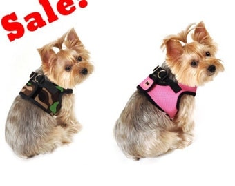 SALE - Soft mesh dog harness in all colors and sizes , dog harness, harness, plain harness, cute harness.