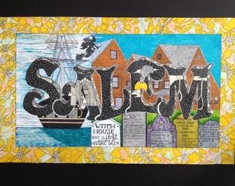Salem Postcard Print