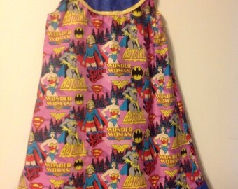 Wonder Woman bat girl super girl dress