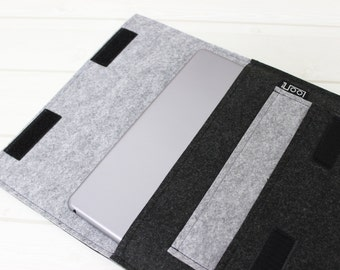 Gray iPad mini case, iPad Mini case, iPad Mini 4 sleeve, 6 inch tablet sleeve, 8 inch felt sleeve, modern iPad sleeve, iPad Mini sleeve