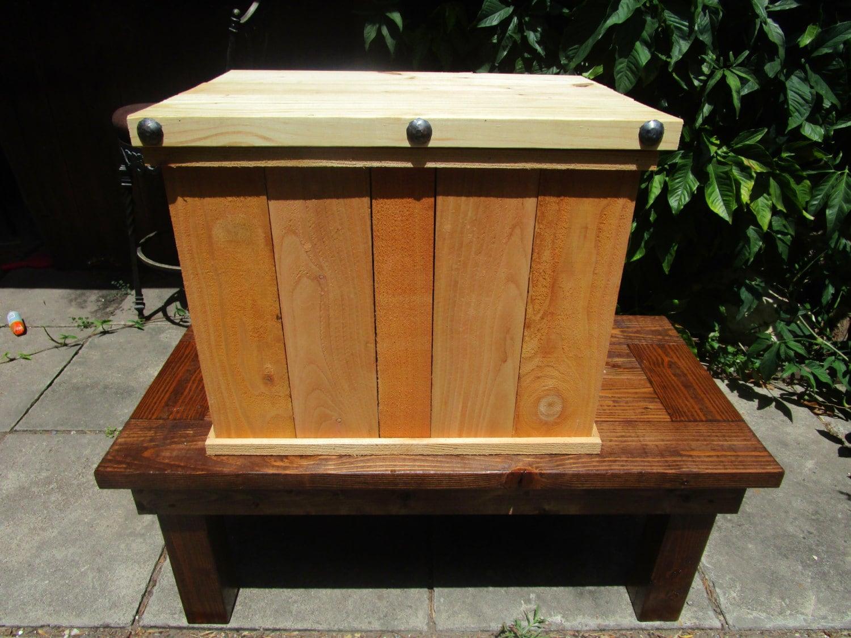 Small Storage Bench Solid Cedar Wood By Rusticvalleywoodwork