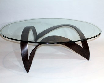 Solid Wenge and Glass Coffee Table