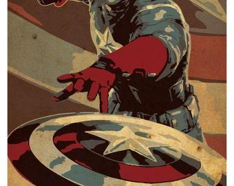 Captain America Poster 11x 17 - wall decor