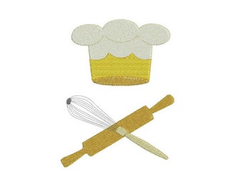 Pastry Chef embroidery esign