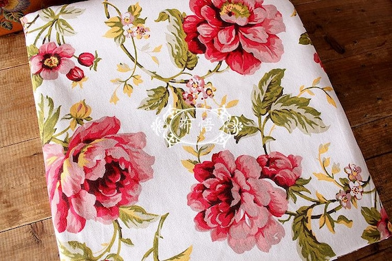 shabby chic home decor fabric large fabric cotton linen fabric shabby chic floral 13053
