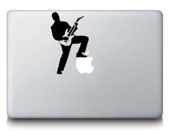 Rockstar Singer Guitarist Band MacBook Laptop Decal Sticker