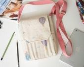 Almost pink sketchbook bag