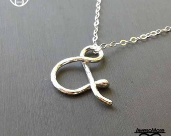Necklace - Sterling Silver Ampersand necklace jewelry (Handmade) by AwesoMore