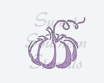 Pumpkin with Vine Stencil