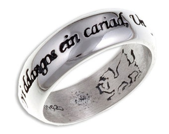 Welch Ring 925 Sterling Silver Welch Men Women Wedding Engagement Love Ring One Ring to Bind us- 7mm Width -SR923