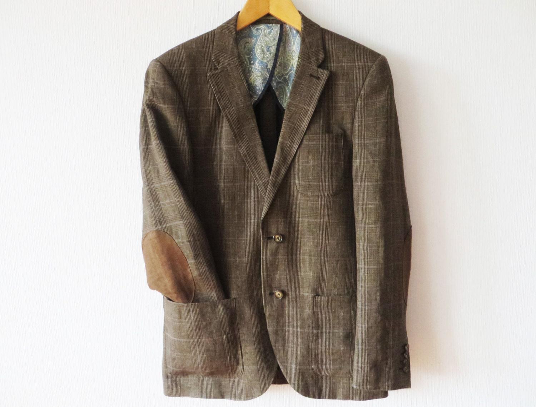 Brown Sports Jacket Brown Plaid Linen Sport Coat