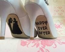 Disney wedding day shoe sole vinyl decals / stickers Cinderella Happy Ever After