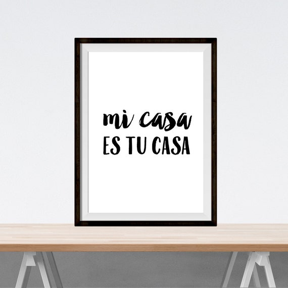 printable art mi casa es su casa digital. Black Bedroom Furniture Sets. Home Design Ideas
