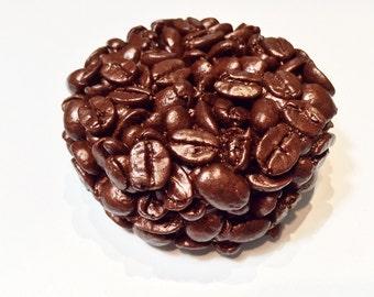 Demitasse Coffee Soap, Black Coffee Soap, Coffee Bean Soap, Handmade Coffee Soap, Handcrafted Soap, Vegan Soap, Shea Butter Soap,