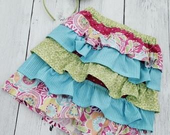 Coastal Delight Ruffle Skirt