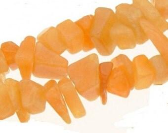 Wire chips beads orange calcite - 90cm wire