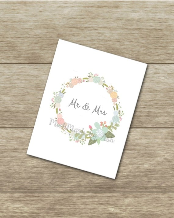 Wedding Card, Printable Wedding Card, Instant Download, Wedding Gift ...