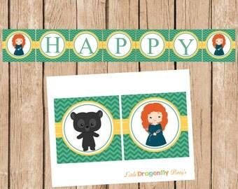 Brave, Diy, Instant Download, Happy Birthday Banner