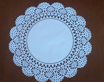 "20 or 50 Round 8"" Intricate lace edge paper doilies"