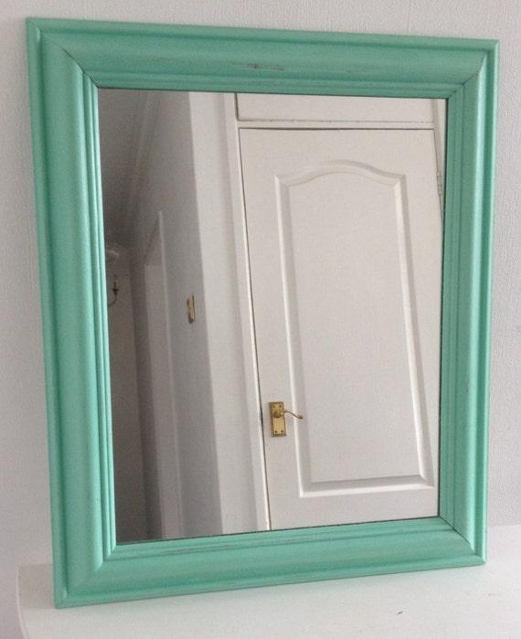 Shabby Chic Mint Green Wall Mirror