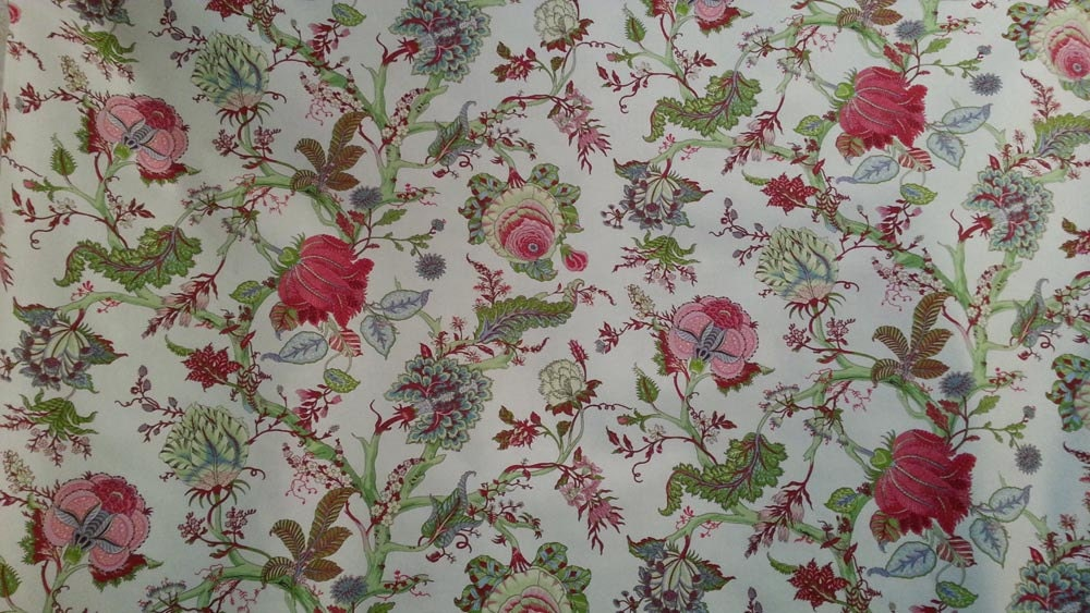 French Floral Toile Decorator Fabric 108 By