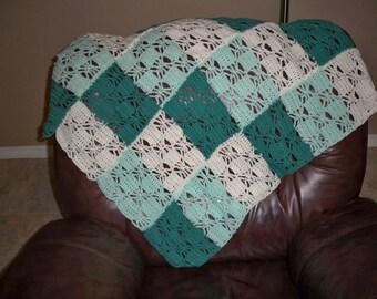 Modern Granny Square Baby Blanket