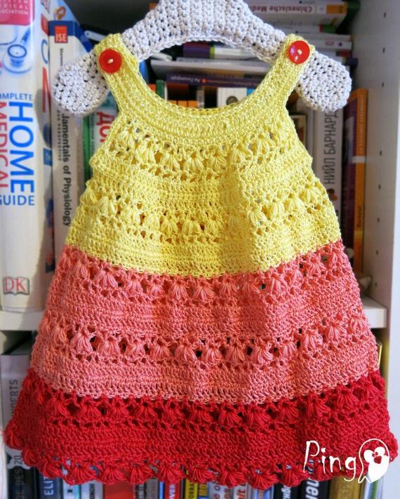 Crochet Dress Pattern Crochet Baby Dress Crochet by ...