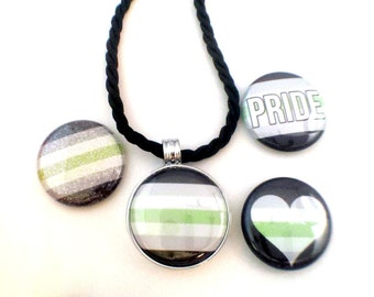 Agender Pride Necklace | Magnetc Necklace |  Agender Pride Jewelry | Agender Necklace | Agender Jewelry | MOGAI Necklace | MOGAI Pride