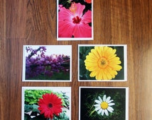 Flower Photography Note Cards - Set of 5 note cards with envelopes