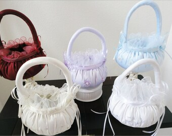 Flower Girl Basket available in 5 colors