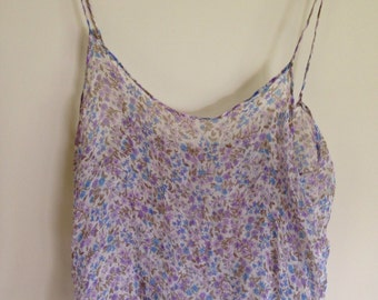Printed Floral Chiffon Camisole