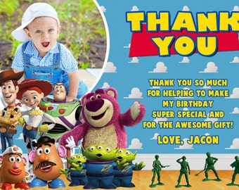 Toy Story Thank You Cards Birthday Party