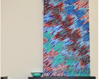 Sand and Fireworks 12x24 print of the original painting