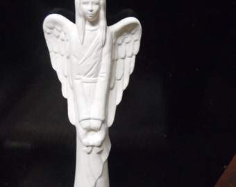 Ceramic bisque ready to paint Angel Tall