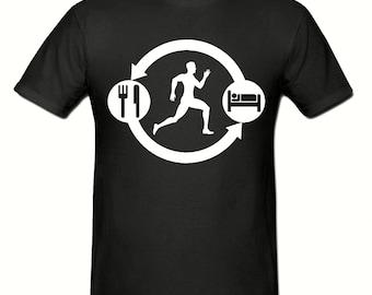 Eat Sleep RUN Repeat t shirt,men's t shirt sizes small- 2xl, RUNNING men's t shirt