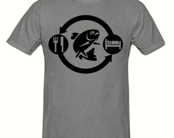 Eat Sleep FISH Repeat t shirt,men's t shirt sizes small- 2xl, FISHING men's t shirt