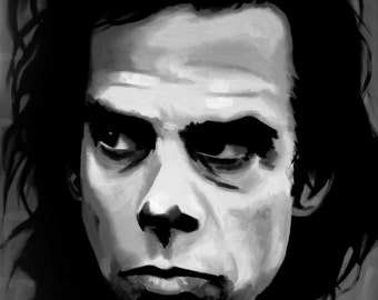 Nick Cave Fine Art Print (Nick Cave & The Bad Seeds - The Boatman's Call - Grinderman - Skeleton Tree - Music Portraits - Icons)