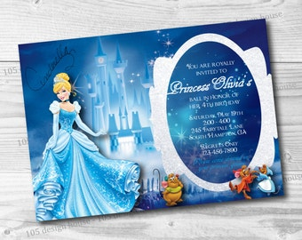 Cinderella Invitation Printable - Cinderella Birthday Invitation - Cinderella Party Invitation - Cinderella Invitation