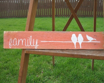 Birds on a Wire Family Sign - Pallet Sign