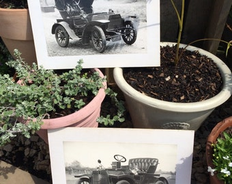 Automotive collectables old mounted photographs of cars x 2 photography mancave