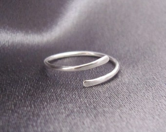 Silver Toe Ring, Above Knuckle Ring, Midi Ring, Simple Toe Ring