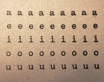Typewriter Vowels