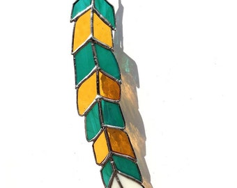Stained Glass Feather 19