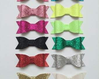 Your Choice 2 Glitter Hair Clips; Girl Hair Clips, Glitter Headbands
