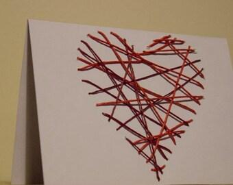 Heart Strings - Handmade Card