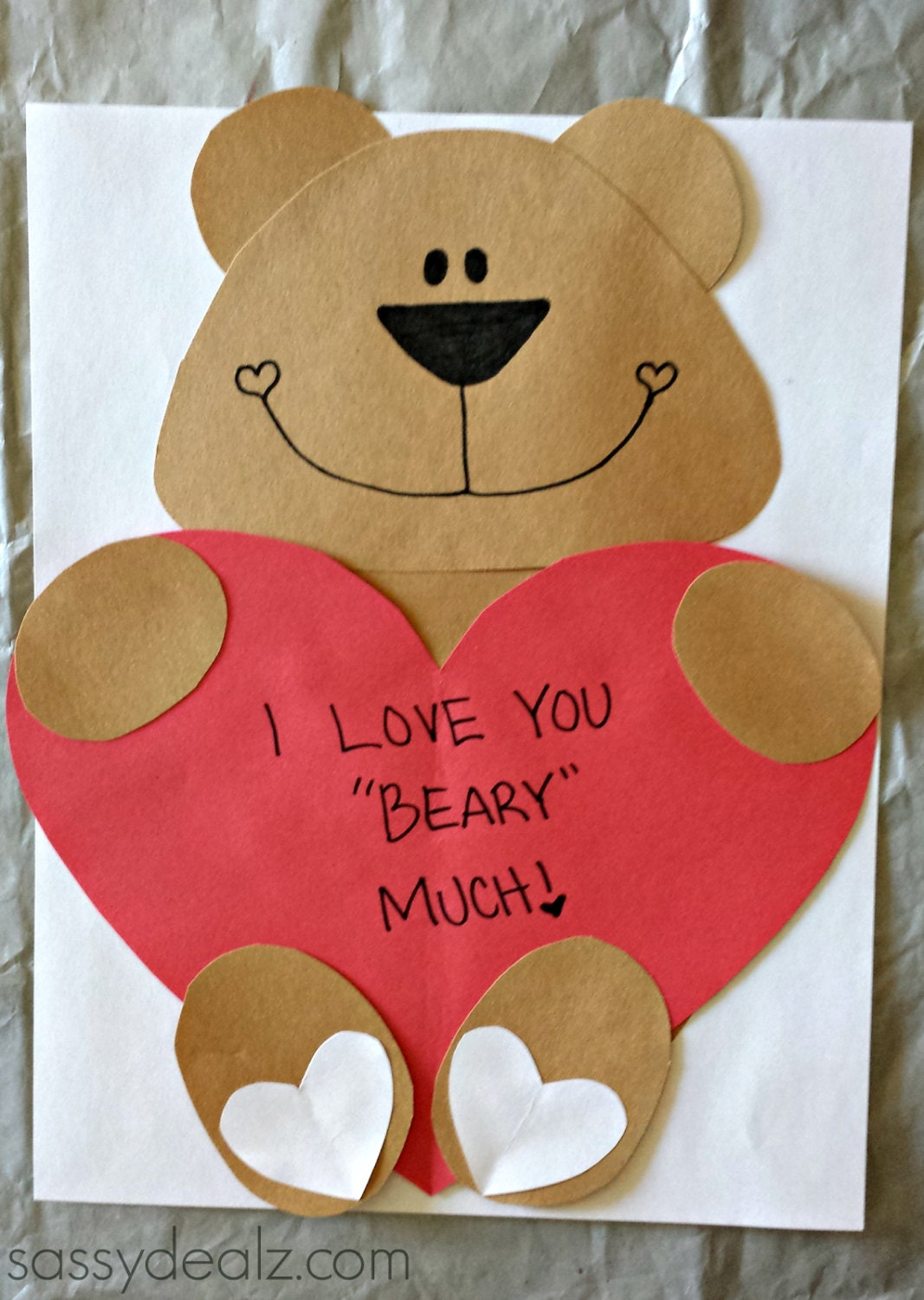 love you beary much craft template