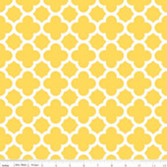 Quatrefoil Basics Riley Blake C435-50 Yellow 1/4 yard to 1/2 yard