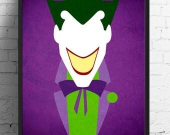 Batman poster, Joker poster, The Dark Knight print, comic print
