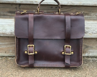 Horween leather briefcase