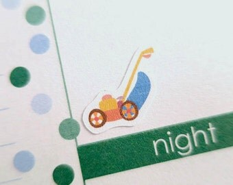 60 Lawn mower Stickers  | Planner Stickers designed for use with the Erin Condren Life Planner | 0075
